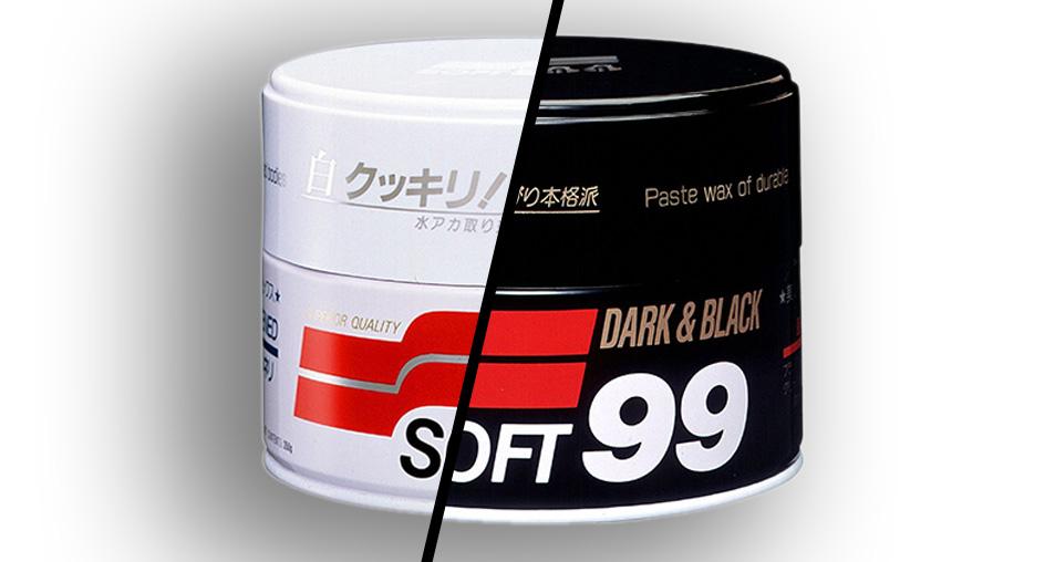 Foto das ceras white cleaner e black & dark da soft99